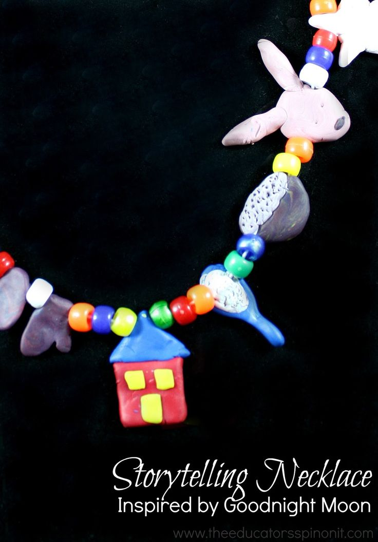 Storytelling Necklace Inspired by Goodnight Moon from Amanda at The Educators' Spin On It.