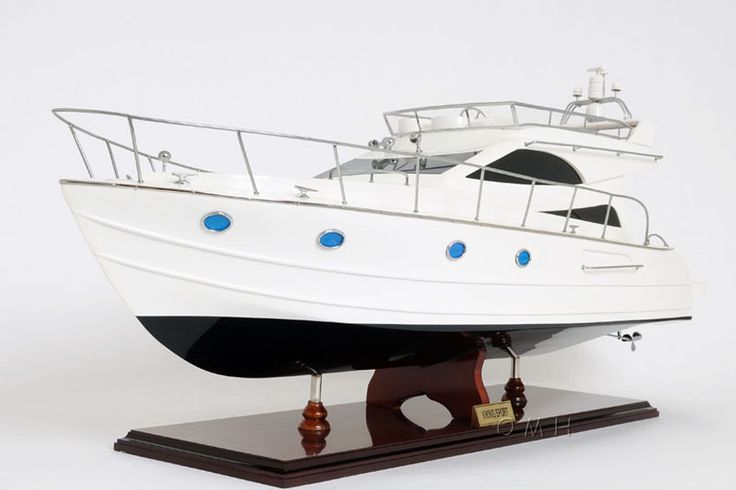 """CaptJimsCargo - Viking Sport Cruiser Motor Yacht Wooden Model 36"""" Power Boat, (http://www.captjimscargo.com/model-motor-yachts/viking-sport-cruiser-motor-yacht-wooden-model-36-power-boat/) The power boat motor yacht model is built exactly to scale as a Viking Sport Cruiser Motor Yacht was with many details. The task required skillful craftsmen hundreds of hours to accomplish."""