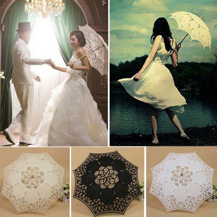 Victorian Regenschirm Schirm Spitze Sonnenschirm Hochzeit Braut Umbrella Foto
