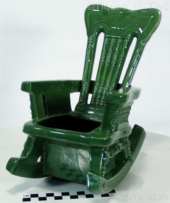 Маккой Керамика Зеленый викторианской качалка плантатор ваза EE | eBay