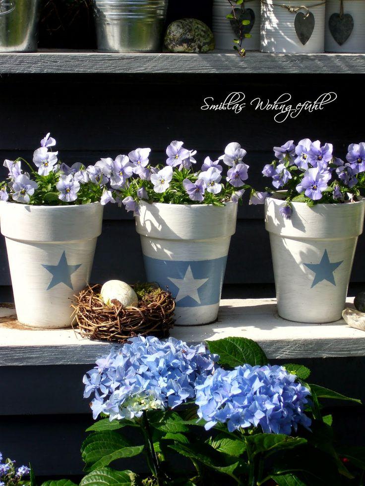 DIY Flower Pot painting Blumentöpfe verschönern Anleitung