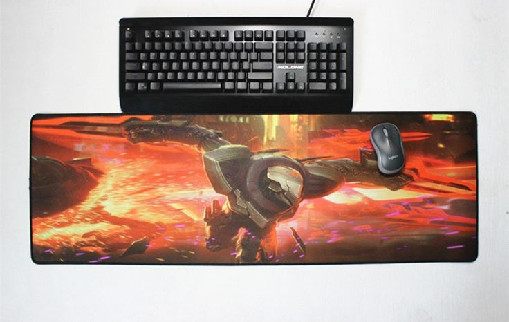 Pbpad xl 900x300mm non-slip mouse pad keyboard locking edge gaming muis mat for World of Warcraft