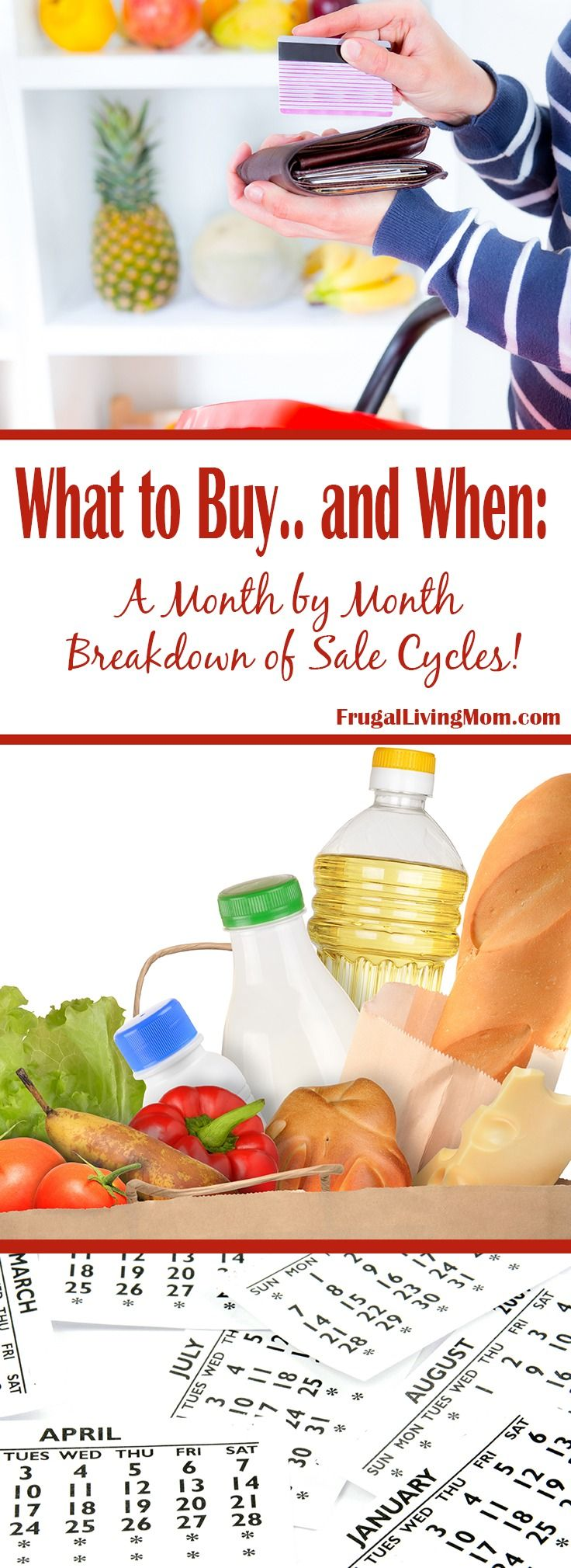 Do you know which items are on known for being on sale each month? Believe it or not, there is a formula for What to Buy. Certain products go on sale at certain times of the year.
