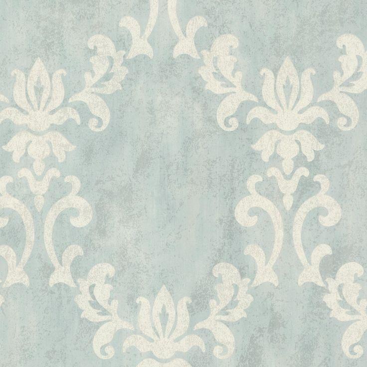 Tapete Rasch Textil Barock blau creme 20073