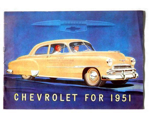 Classic Car Parts Catalog: 1951 Chevrolet Brochure Antique Car Advertisement