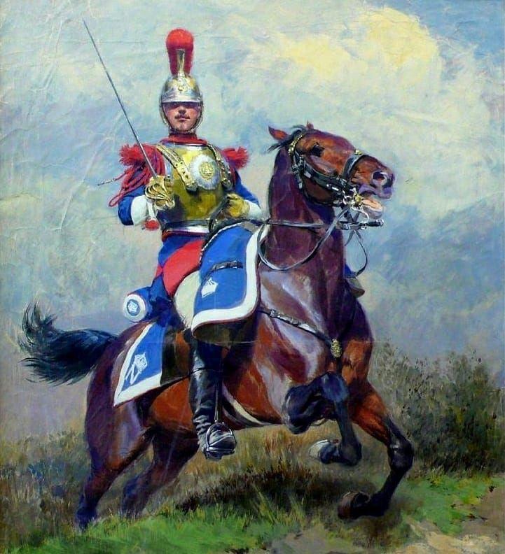 Xviieme Regiment De Dragon On Instagram Les Carabiniers Font Partis De La Cavalerie Lourde Car Sous L Empire Ils Sont Equiper D Un Military Art War Horse War