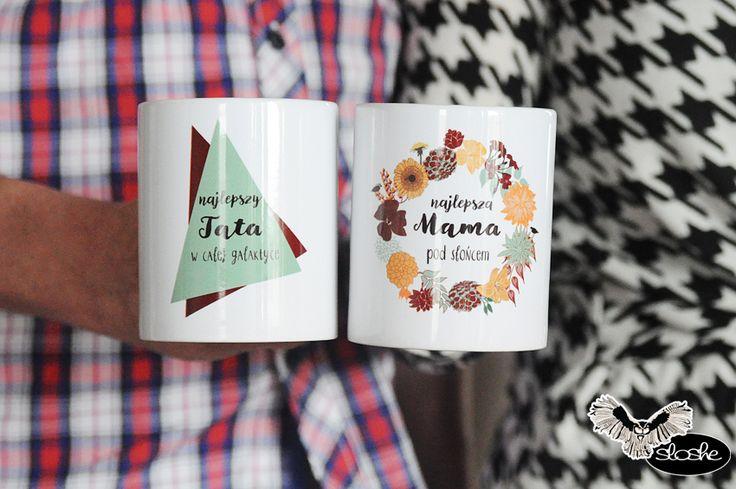 Zestaw kubków z okazji dnia Matki i Ojca, kubki ceramiczne 330/450ml
