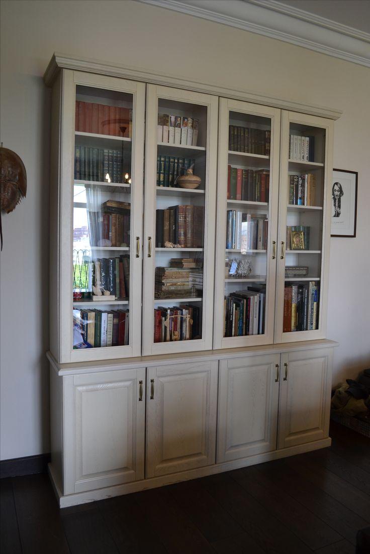 Библиотека из массива бука. Мебельное ателье Massifs www.massifs.ru