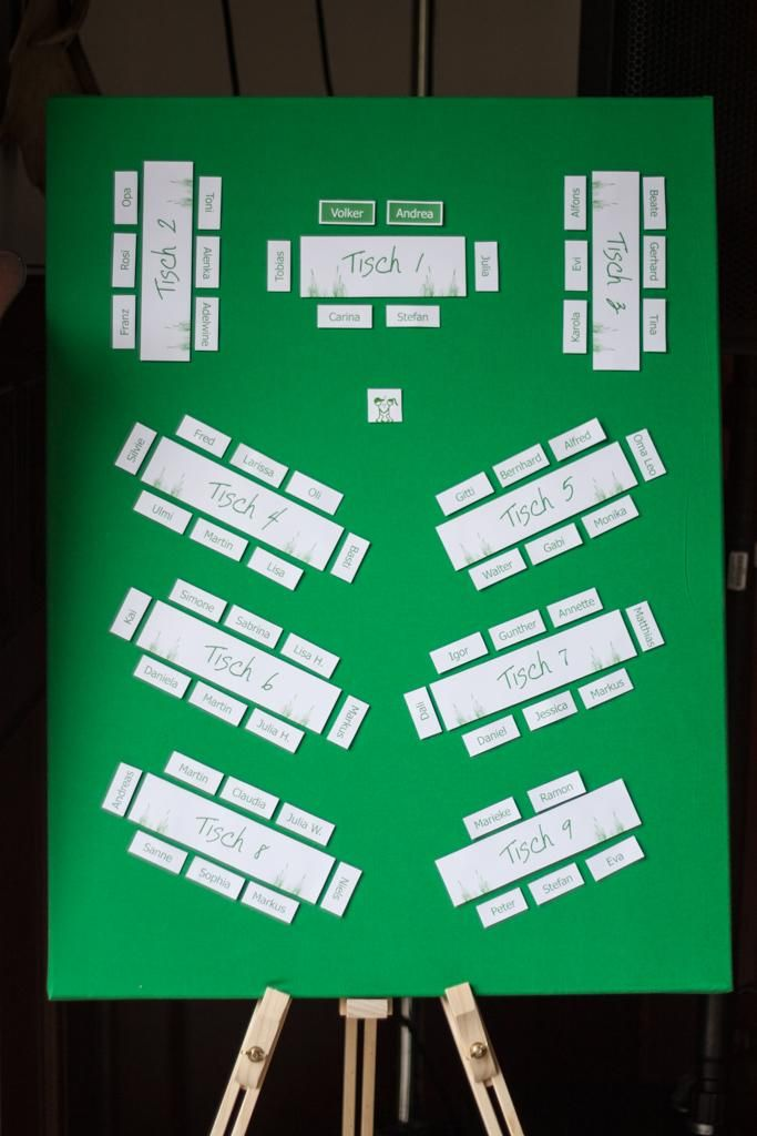 Seating plan wedding, seating plan, frame, easel, place cards, table numbers, table …  – Eine Braut kommt selten allein