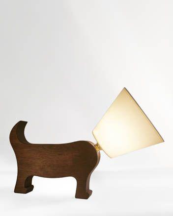 Dog Lamp  Dark Cherry