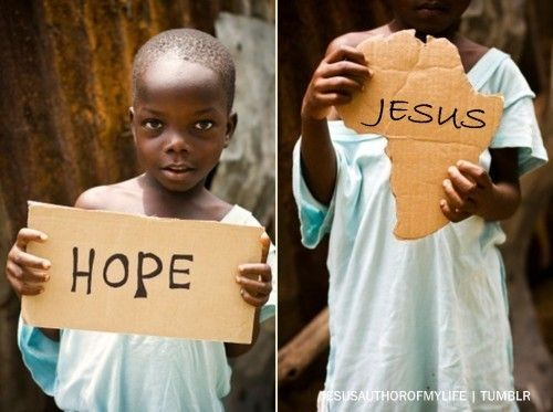 When you see hope like this in a place like Africa, it makes you feel a little silly when we have a hard time finding it here (in the US)