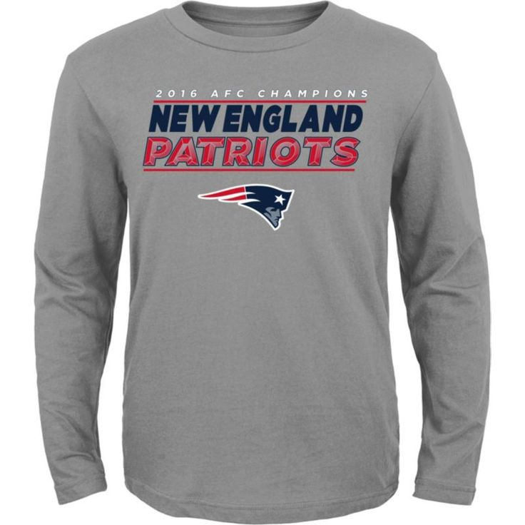 Team Apparel Youth AFC Champions New England Leveled Up Long Sleeve Shirt