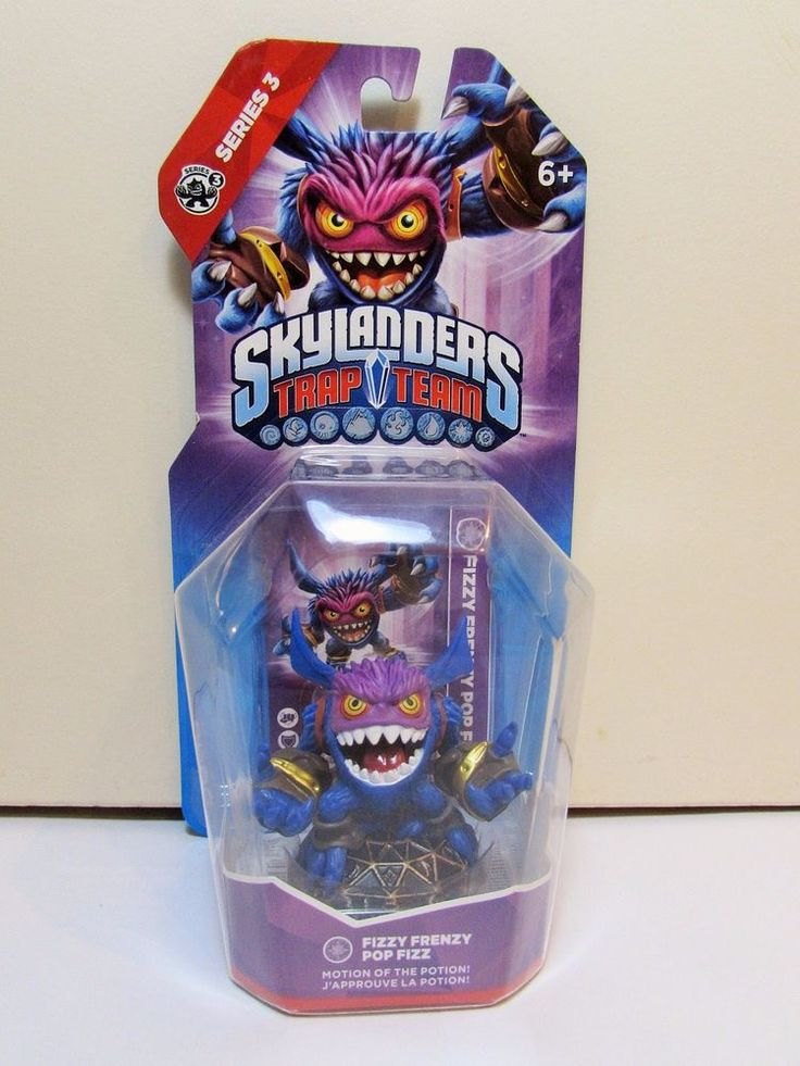 Skylanders Trap Team Fizzy Frenzy Pop Fizz Magic Element Figure BNIB