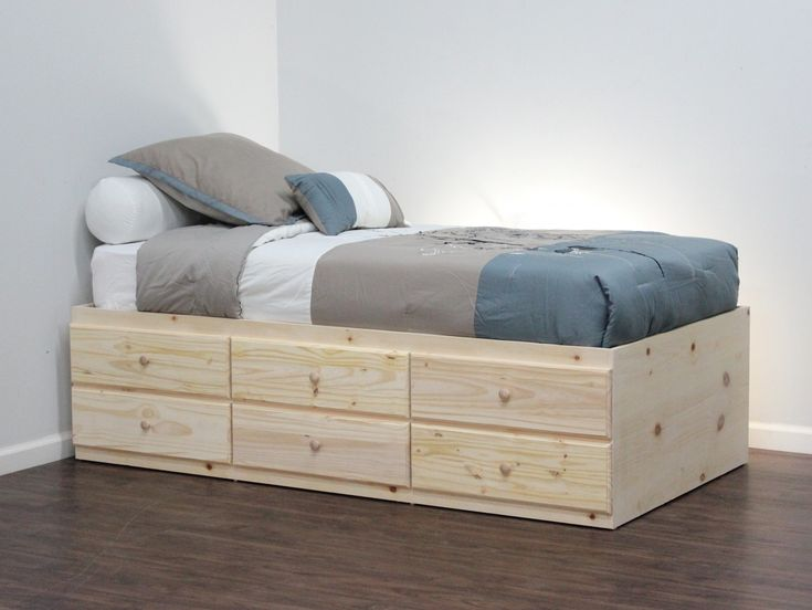 twin storage bed 6 drawers