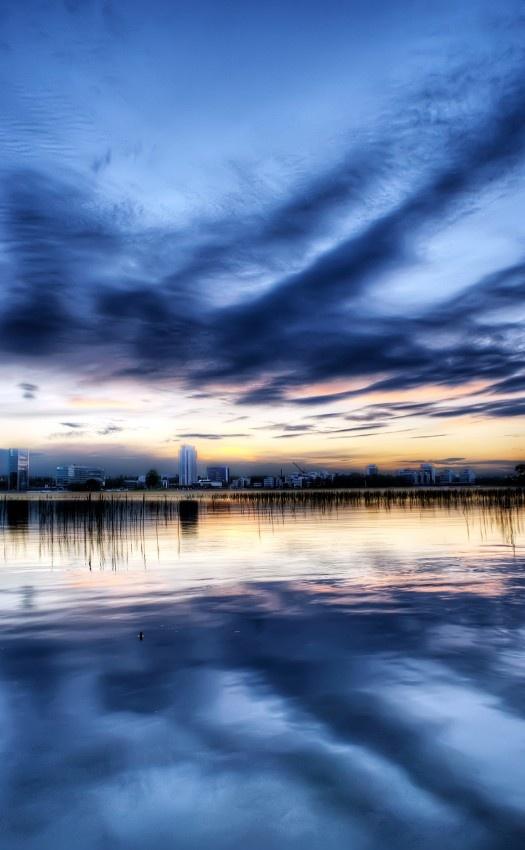 #Sunset over Keilaniemi, #Espoo, #Finland