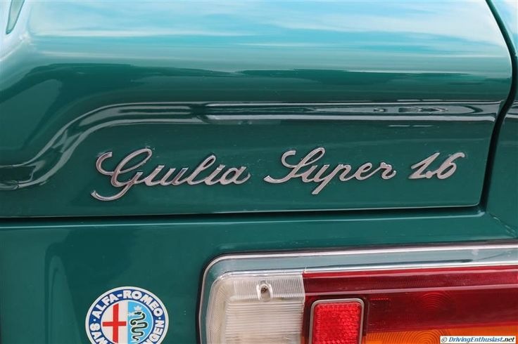 Alfa Romeo Guilia Super 1.6. As seen at the December 2014 cars and Coffee event in Austin TX USA.