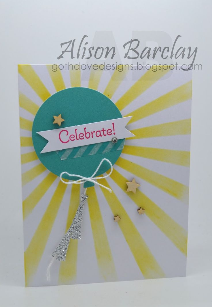 Gothdove Designs - Alison Barclay - Stampin' Up! Australia - Hooray It's Your Day #stampinup #birthday #card #balloons