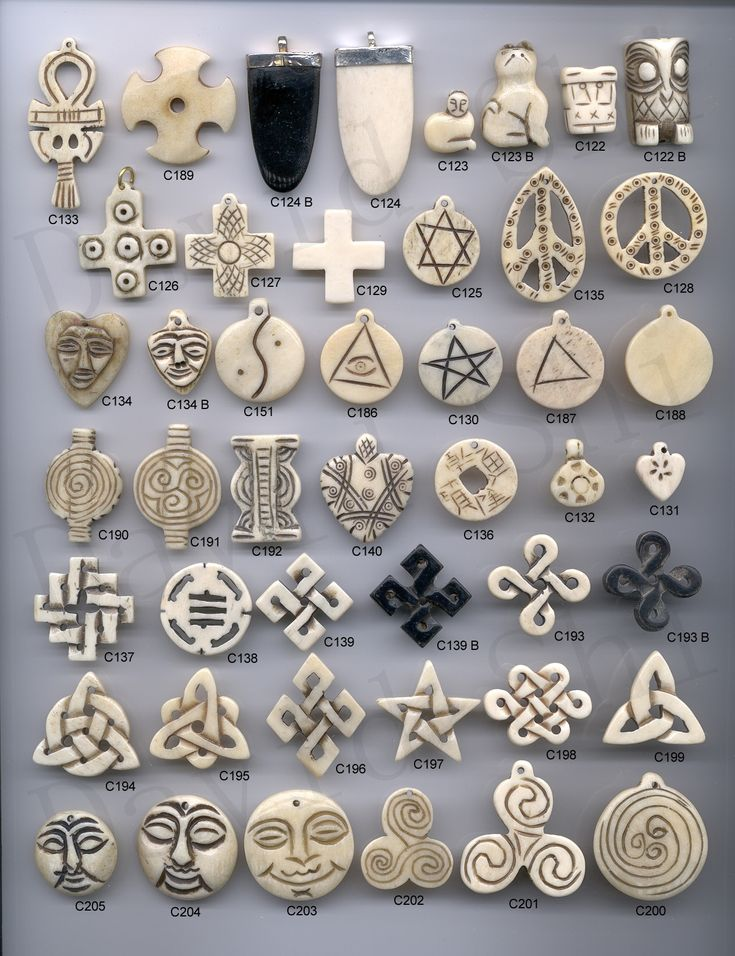 Bone Carving Charms