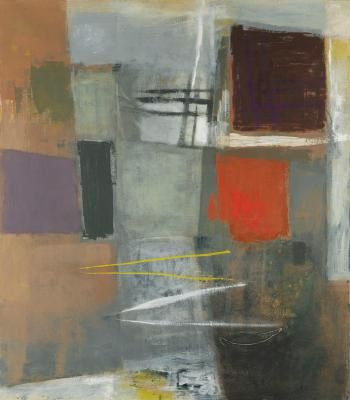'NEWLYN, W CORNWALL' (1959-60) | John Wells: Oil on canvas 40.55 in. (103.00cm) (height) by 35.24 in. (89.50cm) (width), signed, titled, dated 1959-60. and inscribed on the reverse     ✫ღ⊰n