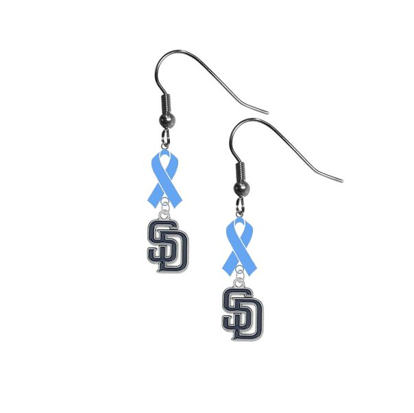 San Diego Padres MLB Prostate Cancer Awareness Blue Ribbon Earrings – SportsJewelryProShop