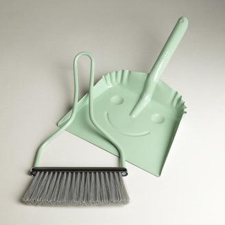 cutest mint broom and dustpan EVER
