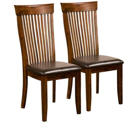 Oakdale Set Of 2 Dark Oak Side Chairs