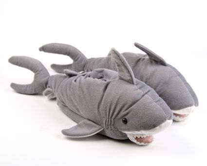 Shark Slippers: Fun and cozy shark slippers! Makes a great gift.