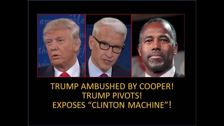 """Trump Setup by Anderson Cooper and CNN! He Explodes! Exposes """"Clinton Ma..."""