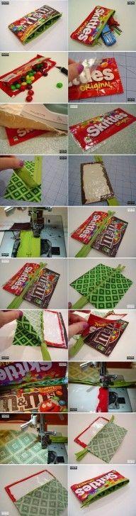 DIY Candy Wrap Pencil Case DIY Projects