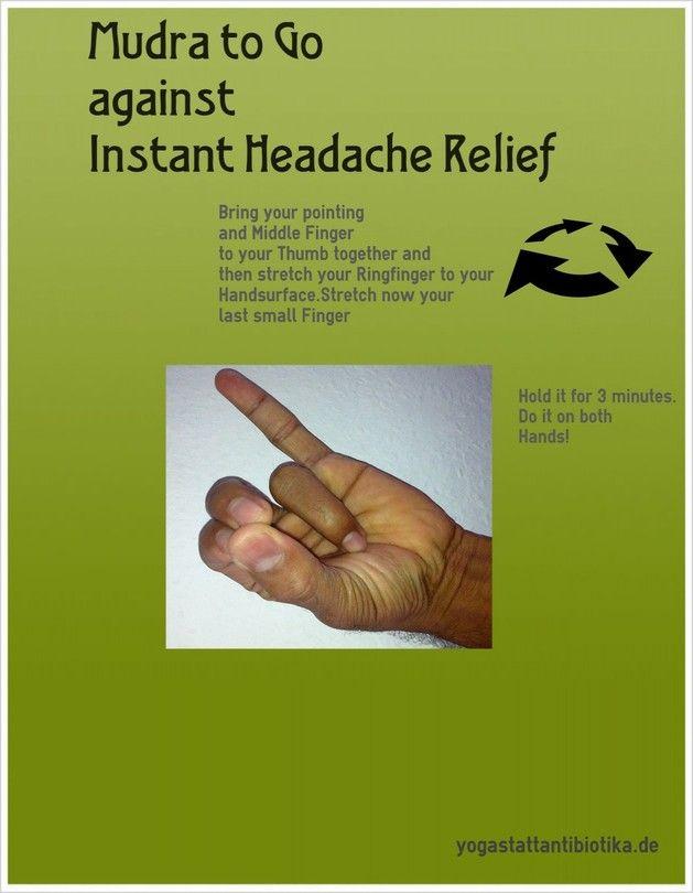 Mudra Against Headacheyoga Infographics Yoga It Yoga For Headaches Yoga Mantras Yoga