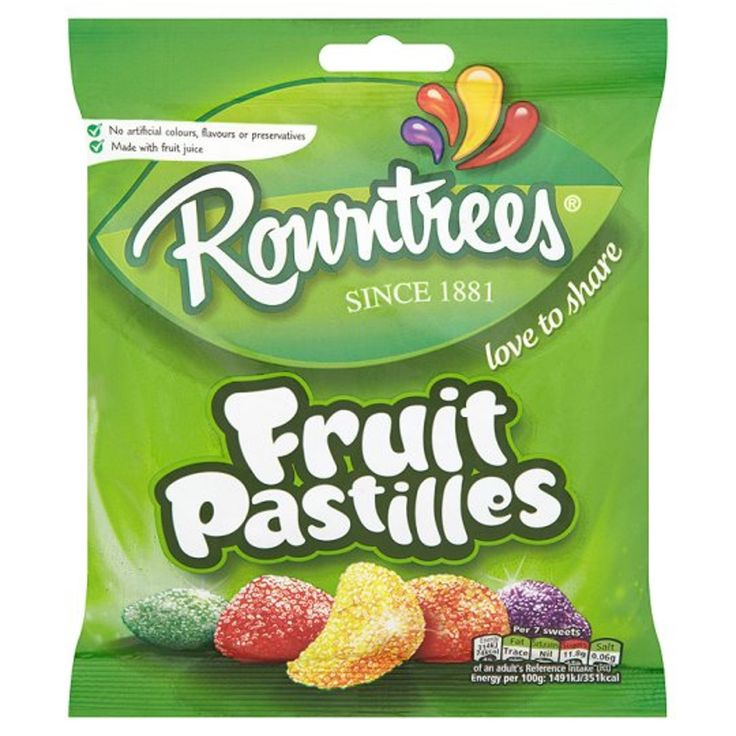 Rowntrees Fruit Pastilles Candy Sweets