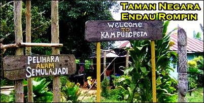 Gate to the Endau Rompin National Park
