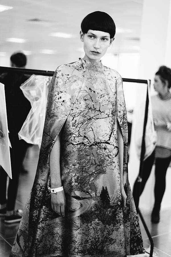Backstage @ Mary Katrantzou  Fall Winter 2013 fashion show #LFW