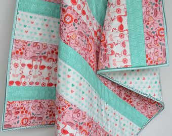modern baby quilt – Etsy