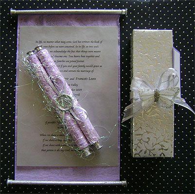 Ref Fancy scroll EIV Purple ( we can do any colour) www.weddingcards.co.za