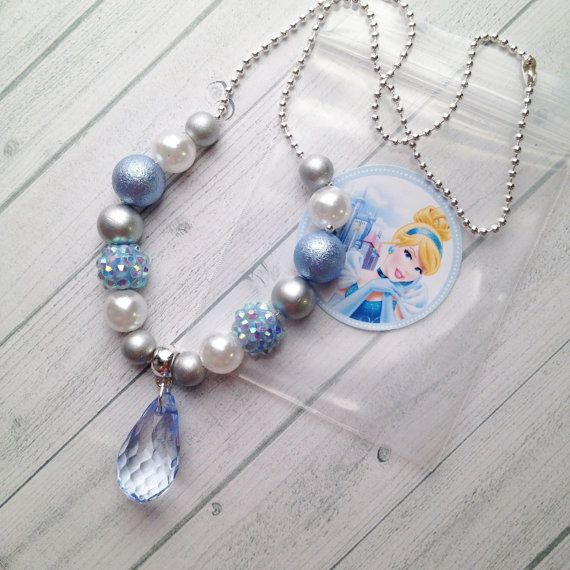 8 Princess Cinderella Necklace Party Favors by MichelleAndCompany