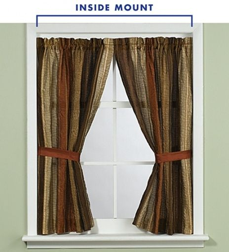 inside window frame curtain rod images
