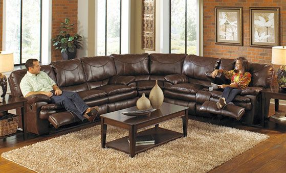 Oversized Leather Sectional Sofa