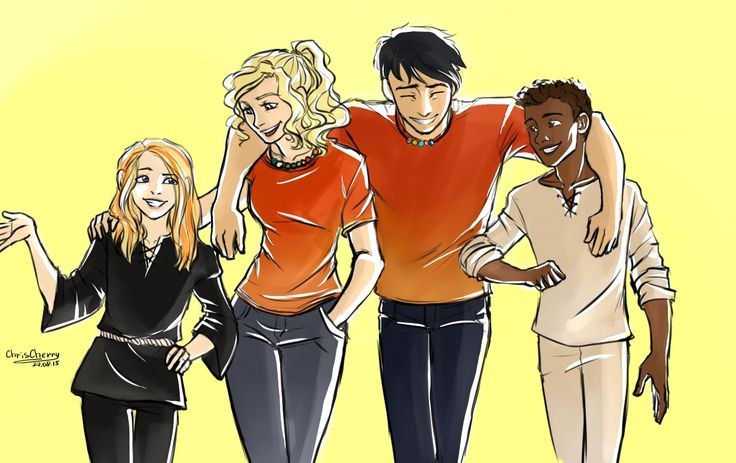 Pjo + Kane Chronicles! I love this but i find it funny how they've made carter and sadie tiny compared to Annabeth and Percy. I know that annabeth and Percy r older but not by that much.