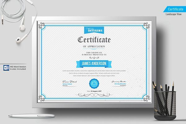 Certificate Template - Stationery