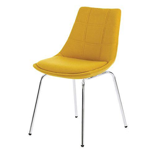 Joy - Chaises-Tables, Chaises Chaise jaune moutarde avec piétement en métal