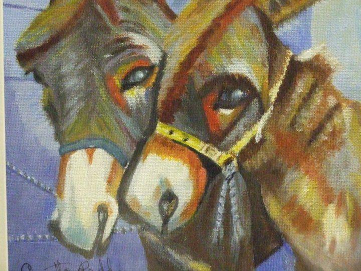 Artist Annette Reddan, Ireland,  'Summer Donkeys'  SOLD
