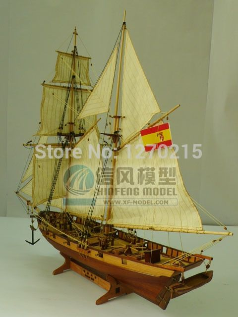 160.00$  Watch here - http://alis4v.worldwells.pw/go.php?t=2044235552 - ALL NEW VERSION Wooden sailing boat model wood scale model 1/48 HALCON scale assembly model ship building kits scale boat ship