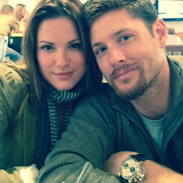 Pin for Later: It's Ridiculous How Hot Jensen Ackles and Danneel Harris Are Together  The actor posted a cuddly snap with his wife on her birthday in March 2016.