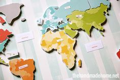 Free printable continents map puzzle
