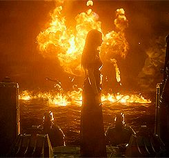 Isabell surrounded by dragon fire during the final battle. If she asks the flames nicely she won't get burned