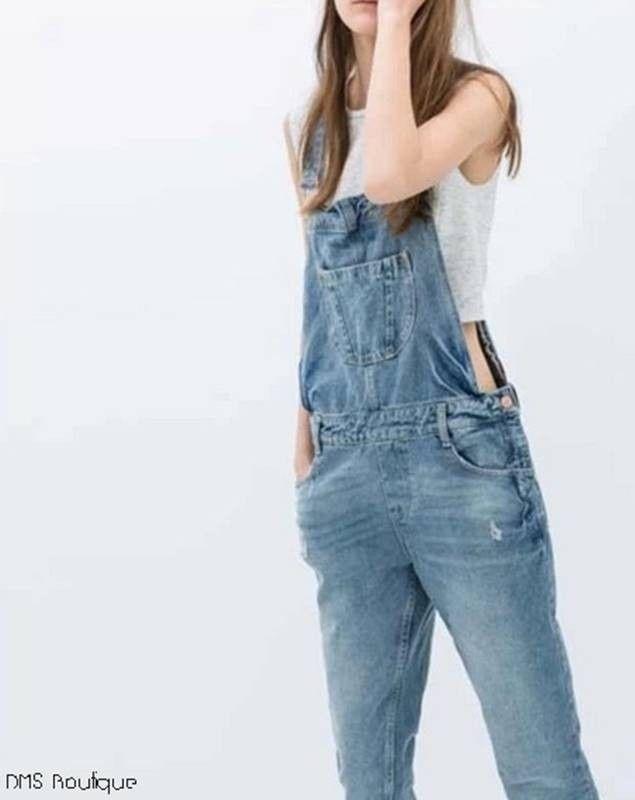 As 25 melhores ideias de jardineira jeans feminina no for Jardineira jeans c a
