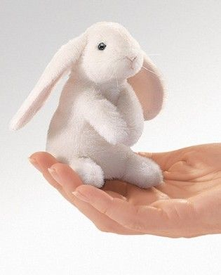 Folkmanis Puppet - Mini Lop Ear Rabbit Finger Puppet