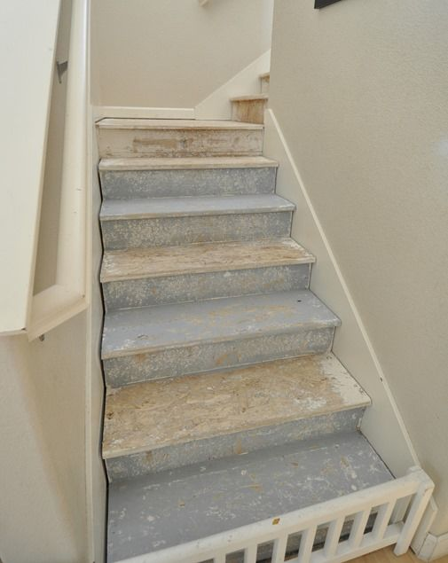 The 25 best refinish stairs ideas on pinterest redoing for Ideas for redoing stairs