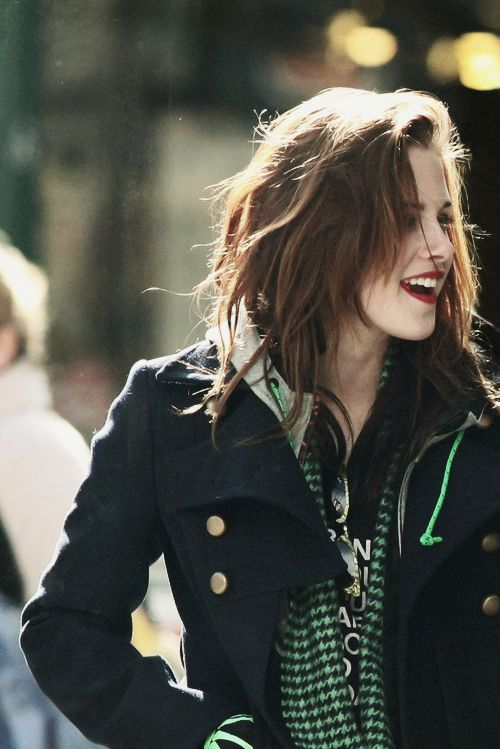 """Kristin Stewart """"All you need in life is family, a true friend and your middle finger up."""""""